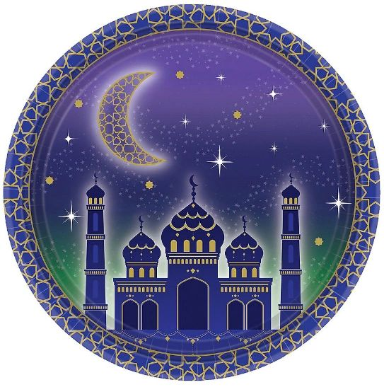 "EID Celebration Dessert Plates, 7"" - 8ct"