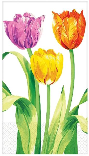Spring Tulips Guest Towels, 16ct