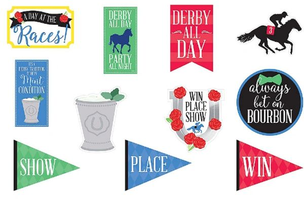 Horse Racing Derby Day Cutouts, 11ct
