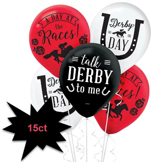 Horse Racing Derby Day Balloons, 15ct