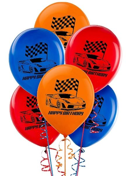 Hot Wheels Wild Racer™ Latex Balloons, 6ct
