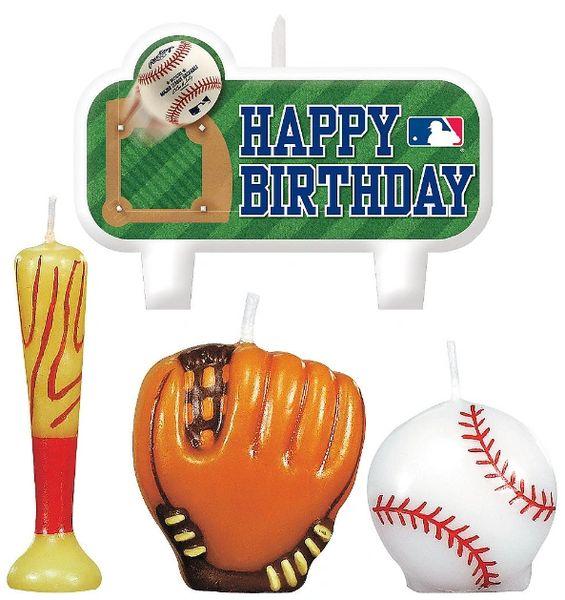 MLB Birthday Candle Set, 4ct