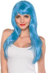 Glamorous Long Light Blue Wig