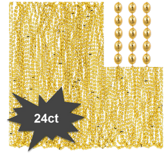 Gold Bead Necklaces, 24ct