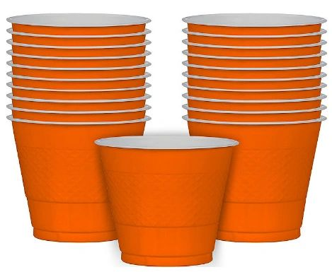 Orange Peel Plastic Cups, 9oz - 20ct