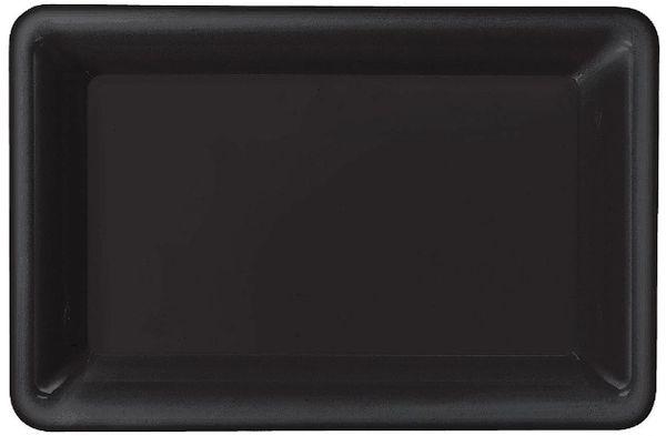 Black Plastic Rectangular Tray