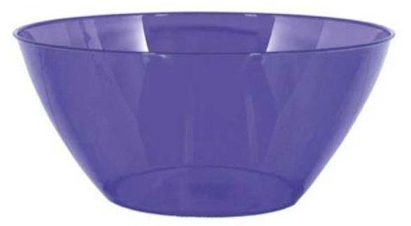 Large Purple Plastic Bowl, 5qt