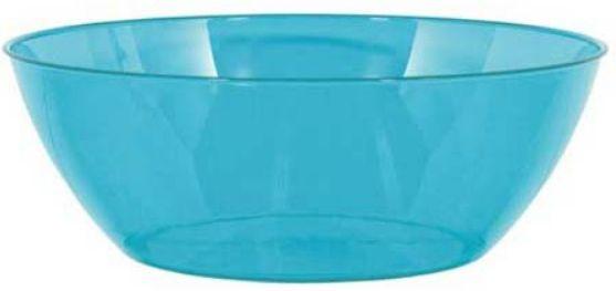 Caribbean Blue Plastic Serving Bowl, 10qt