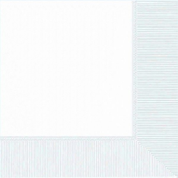 Frosty White Luncheon Napkins, 50ct