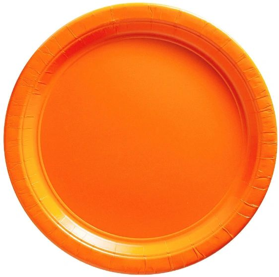 "Big Party Pack Orange Lunch Paper Plates, 9"" - 50ct"