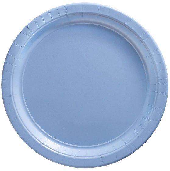"Big Party Pack Pastel Blue Lunch Paper Plates, 9"" - 50ct"