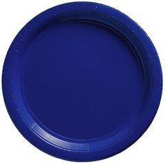 "Big Party Pack Bright Royal Blue Lunch Paper Plates, 9"" - 50ct"