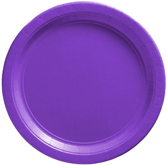 "Big Party Pack New Purple Lunch Paper Plates, 9"" - 50ct"