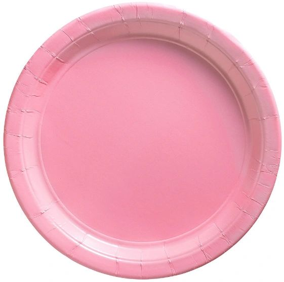 "Big Party Pack New Pink Lunch Paper Plates, 9"" - 50ct"