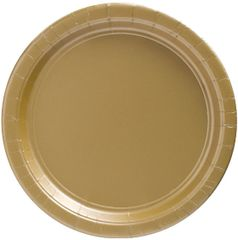 "Big Party Pack Gold Lunch Paper Plates, 9"" - 50ct"