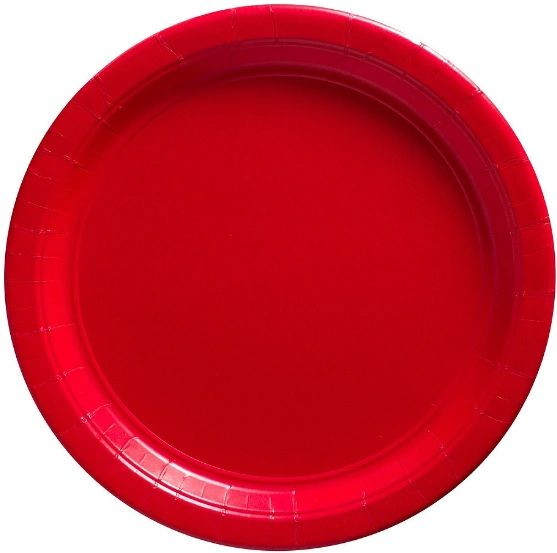 """Big Party Pack Red Paper Lunch Plates, 9"""" - 50ct"""