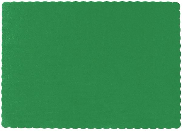 Big Party Pack Festive Green Paper Placemats, 50ct
