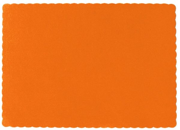 Big Party Pack Orange Paper Placemats, 50ct