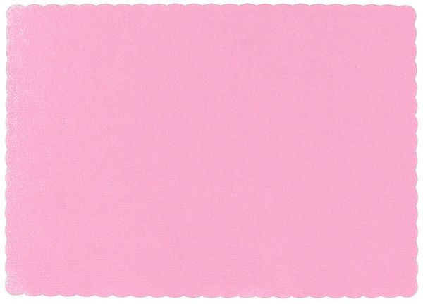 New Pink Solid Color Paper Placemats, 50ct