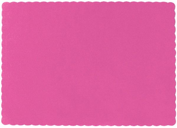 Big Party Pack Bright Pink Paper Placemats, 50ct