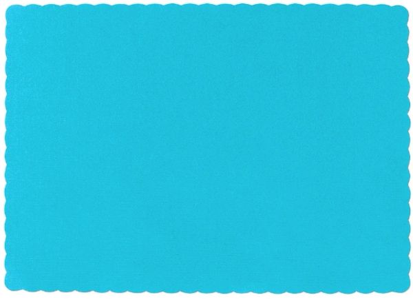 Big Party Pack Caribbean Blue Paper Placemats, 50ct