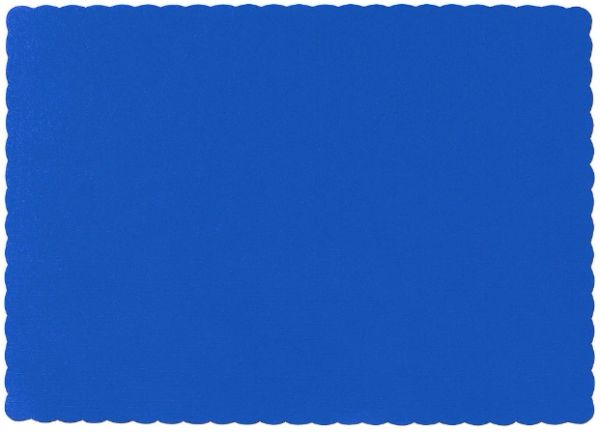 Big Party Pack Bright Royal Blue Paper Placemats, 50ct