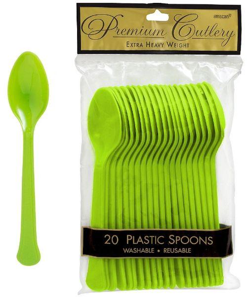 Kiwi Premium Heavy Weight Plastic Spoons 20ct