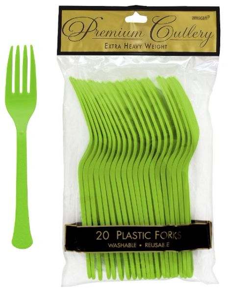 Kiwi Premium Heavy Weight Plastic Forks 20ct