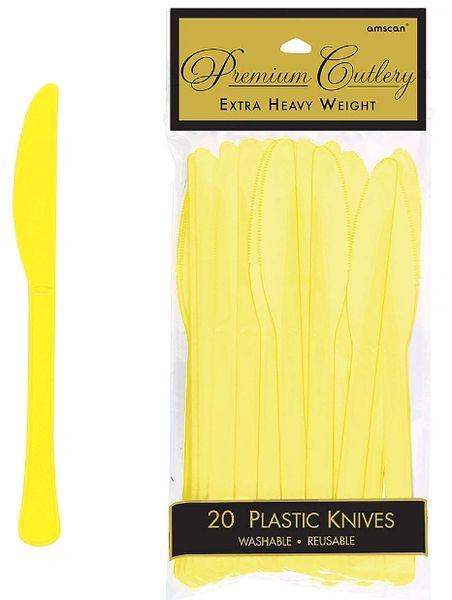 Light Yellow Premium Heavy Weight Plastic Knives 20ct