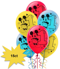 ©Disney Mickey's Fun To Be One Latex Balloons, 15ct