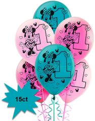 ©Disney Minnie's Fun To Be One Latex Balloons, 15ct