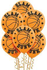Basketball Latex Balloons, 6ct