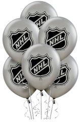 NHL Balloons, 6ct