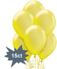 Yellow Sunshine Pearl Latex Balloons, 15ct