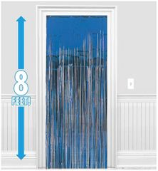 Bright Royal Blue Metallic Curtain