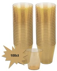 Big Party Pack Gold Plastic Shot Glasses, 100ct