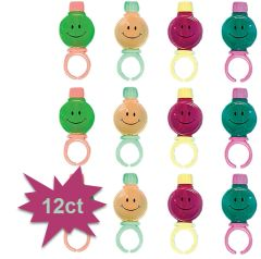 Smile Bubble Rings, 12ct