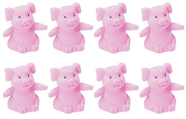 Pink Pig Erasers, 8ct