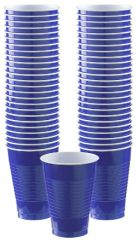 Big Party Pack Bright Royal Blue Plastic Cups, 12oz - 50ct