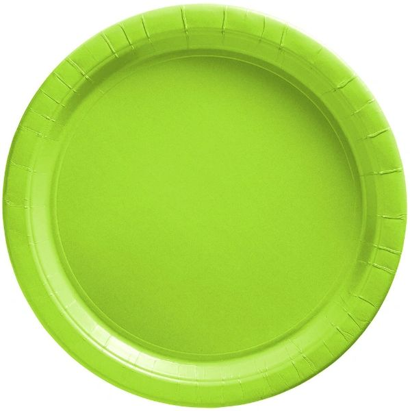 """Big Party Pack Kiwi Lunch Paper Plates, 9"""" - 50ct"""