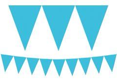 Caribbean Blue Pennant Banner, 15ft