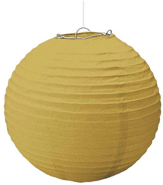 Large Gold Paper Lantern