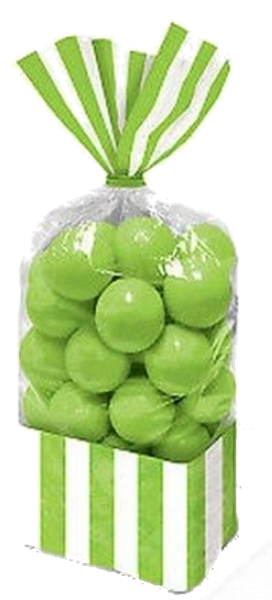 Kiwi Striped Treat Bags, 10ct