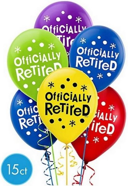 Officially Retired Printed Latex Balloons, 15ct