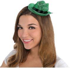 Green Glitter Mini Cowboy Hat
