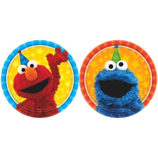 "Sesame Street® Assorted Round Plates, 7"""