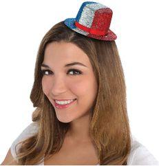 Glitter Patriotic Mini Top Hat