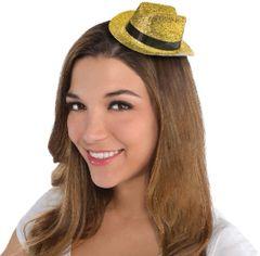 Gold Glitter Mini Cowboy Hat