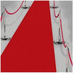 Red Fabric Floor Runner Decoration, 15ft