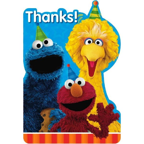 Sesame Street® Postcard Thank You Cards, 8ct